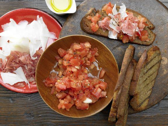 Katalanisches Röstbrot mit Tomaten
